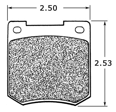 Large photo of Ferodo Brake Pad, Ford Cortina, Girling 14LF/1 (D051), Pegasus Part No. GD535-Size