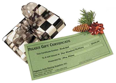 Large photo of Pegasus Gift Certificate, (specify amount), Pegasus Part No. GC-Amount