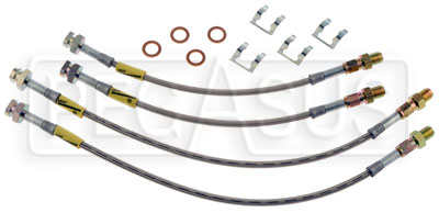 Large photo of G-Stop Brake Line Set, 63-82 Chevrolet Corvette, Pegasus Part No. GS-12201