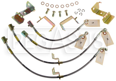 Large photo of G-Stop Brake Line Set, 05-up Mustang with ABS, Pegasus Part No. GS-12364
