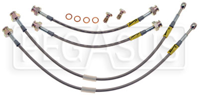 Large photo of G-Stop Brake Line Set, 84-87 Honda Civic, Pegasus Part No. GS-20011