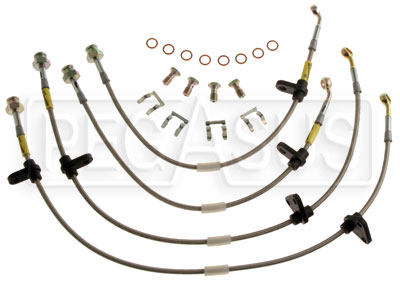 Large photo of G-Stop Brake Line Set, 92-95 Honda Civic- Rear Disc, no ABS, Pegasus Part No. GS-20017