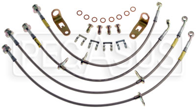 Large photo of G-Stop Brake Line Set, 06-up Honda Civic SI, Pegasus Part No. GS-20024