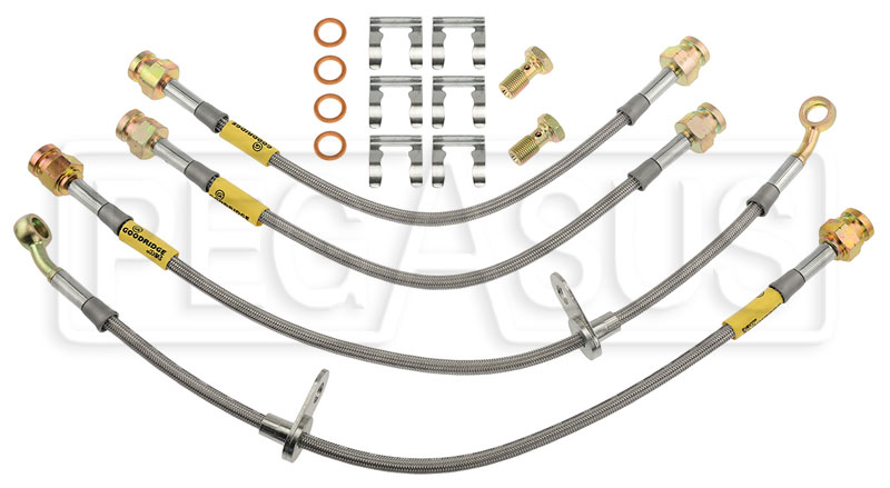 Large photo of G-Stop Brake Line Set, 04-08 Acura TL - Manual, Brembo Brake, Pegasus Part No. GS-20106
