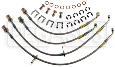 Large photo of G-Stop Brake Line Set, 93-98 Toyota Supra (all models), Pegasus Part No. GS-21113