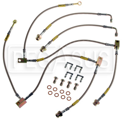 Large photo of G-Stop Brake Line Set, 03+ Nissan 350Z / Infiniti G35, all, Pegasus Part No. GS-22074