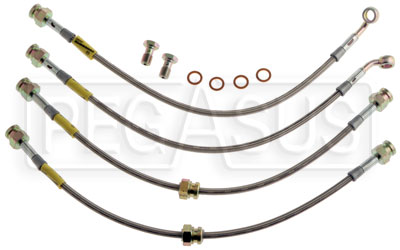 Large photo of G-Stop Brake Line Set, 93-95 Mazda RX-7 (all models), Pegasus Part No. GS-25053