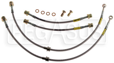Large photo of G-Stop Brake Line Set, 06-up Volkswagen Jetta, Golf, Eos, Pegasus Part No. GS-39079