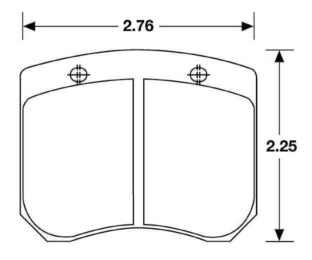 Large photo of Hawk Brake Pad, FF, F2000, Lockheed LD20 (CP2399) (D5), Pegasus Part No. HB108-Compound-Thickness