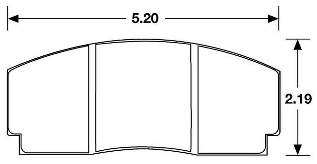 Large photo of PFC Racing Brake Pad, F3000, Group A Rally, AP/Lockheed, Pegasus Part No. PF767-Size