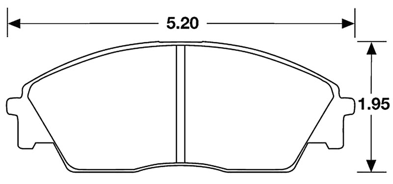 Large photo of Hawk Brake Pad, Honda CRX Si 90-91 (D373), Pegasus Part No. HB113-Compound-Thickness