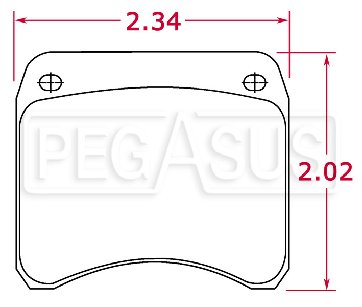 Large photo of Porterfield Brake Pad, FF, Lockheed LD19 (PD26/11), Pegasus Part No. 9995-001