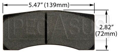 Large photo of Hawk Brake Pad: Brembo, Wilwood, Pegasus Part No. HB130-Compound-Thickness