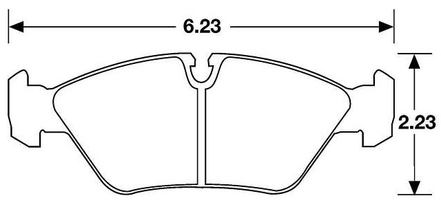 Large photo of Hawk Brake Pad, 87-91 BMW M3, 80-85 928 (D253), Pegasus Part No. HB137-Compound-Thickness