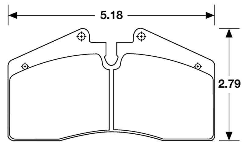 Large photo of Hawk Brake Pad, Porsche 928 (D609), Pegasus Part No. HB141-Compound-Thickness