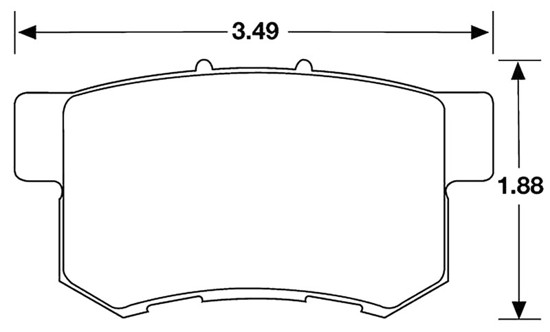 Large photo of Hawk Brake Pad, Acura, Honda Rear (D537), Pegasus Part No. HB145-Compound-Thickness