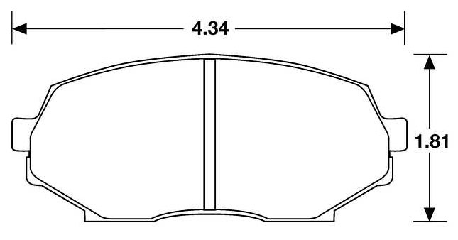 Large photo of PFC Racing Brake Pad, 90-93 Mazda Miata Front (D525), Pegasus Part No. PF525-Size
