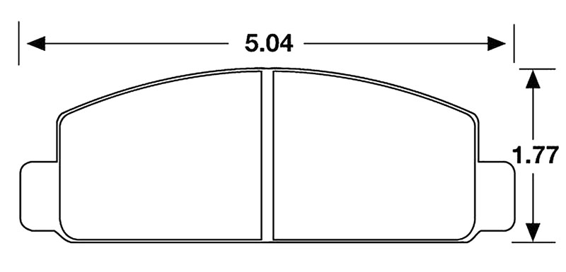 Large photo of Hawk Brake Pad, 84-92 RX7 Front F.I. (D131), Pegasus Part No. HB152-Compound-Thickness