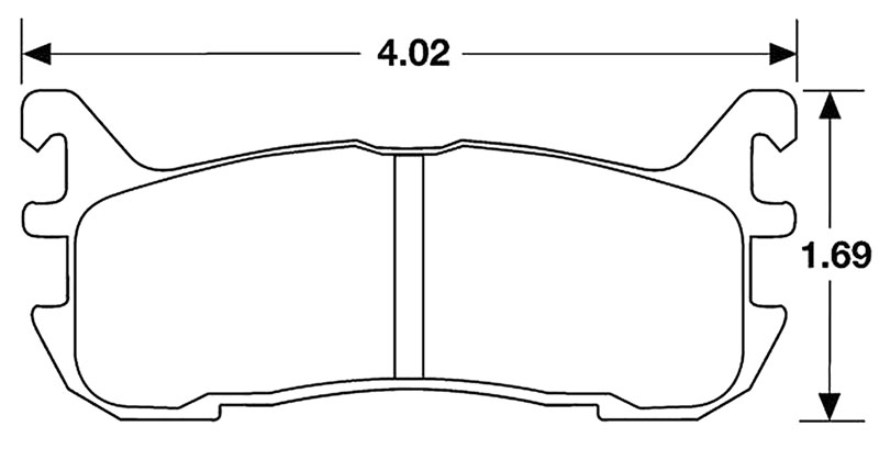 Large photo of Hawk Brake Pad, 94-05 Mazda Miata Rear, Escort Rear (D636), Pegasus Part No. HB159-Compound-Thickness