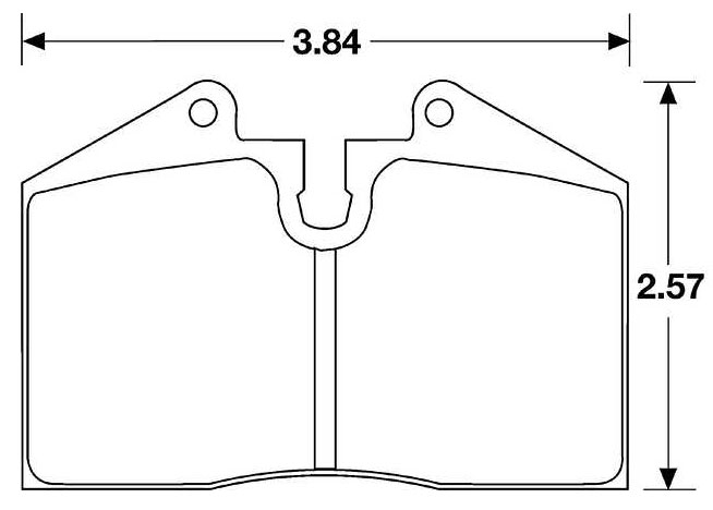 Large photo of Hawk Brake Pad, Ferrari/Porsche (D345 D446 D608), Pegasus Part No. HB170-Compound-Thickness