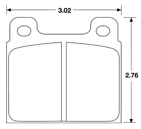 Large photo of Hawk Brake Pad, Alfa, Ferrari, Porsche 911 (D45, D287), Pegasus Part No. HB171-Compound-Thickness