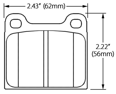 Large photo of Ferodo Brake Pad, Alfa, BMW, Porsche, VW (D58), Pegasus Part No. FDB2-Compound