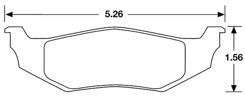 Large photo of Hawk Brake Pad, Dodge/Plymouth Neon Rear (D641, D759), Pegasus Part No. HB176-Compound-Thickness