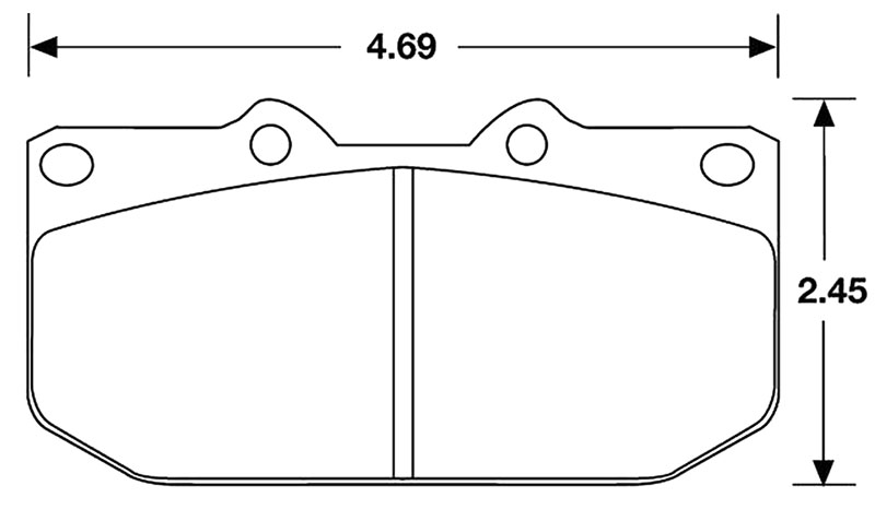 Large photo of Hawk Brake Pad, 90-96 Nissan 300ZX, Subaru 4-pot (D460), Pegasus Part No. HB178-Compound-Thickness