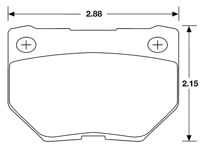 Large photo of Hawk Brake Pad, 90-96 Nissan 300ZX Rear (D461), Pegasus Part No. HB179-Compound-Thickness