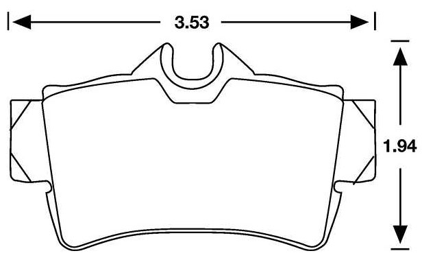 Large photo of PFC Racing Brake Pad, 94-04 Mustang Rear (D627), Pegasus Part No. PF627-Size