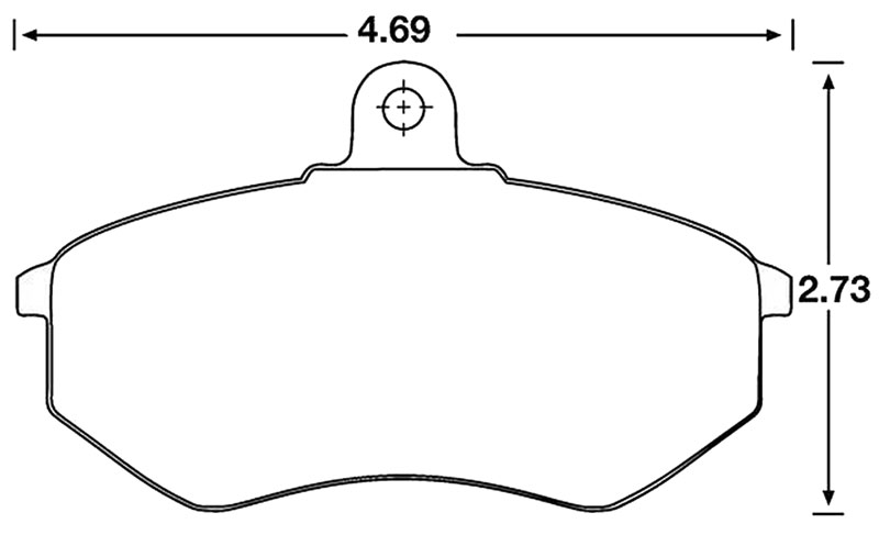 Large photo of Hawk Brake Pad, Audi, VW (D227, D696), Pegasus Part No. HB190-Compound-Thickness
