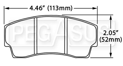 Large photo of Hawk Brake Pad, Formula Atlantic, F3000, F3, Alcon, AP, Pegasus Part No. HB192-Compound-Thickness