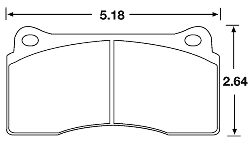 Large photo of Hawk Brake Pad, Brembo F40, Ferrari, Jaguar (D810), Pegasus Part No. HB193-Compound-Thickness
