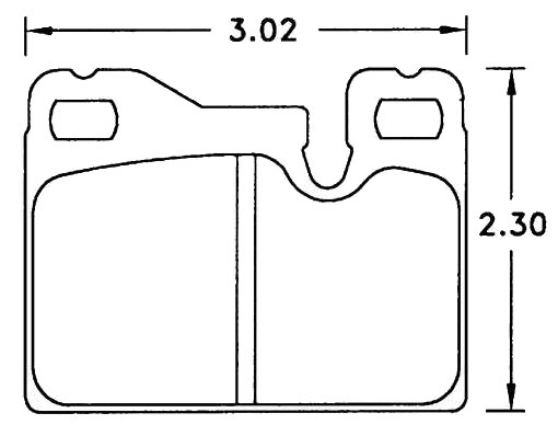 Large photo of Hawk Brake Pad, Porsche 924, 928 / 944 Rear (D252), Pegasus Part No. HB198-Compound-Thickness