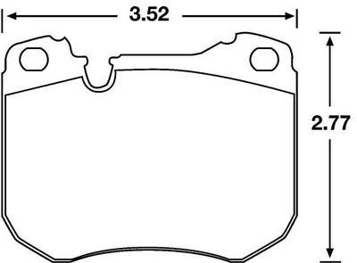 Large photo of Hawk Brake Pad, Lamborghini, Peugeot, Porsche (D251), Pegasus Part No. HB199-Compound-Thickness