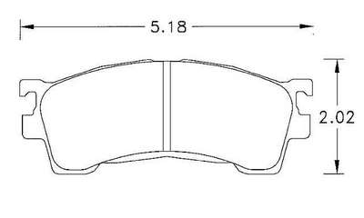 Large photo of Hawk Brake Pad, Ford Probe / Mazda MX-6 (D637), Pegasus Part No. HB211-Compound-Thickness