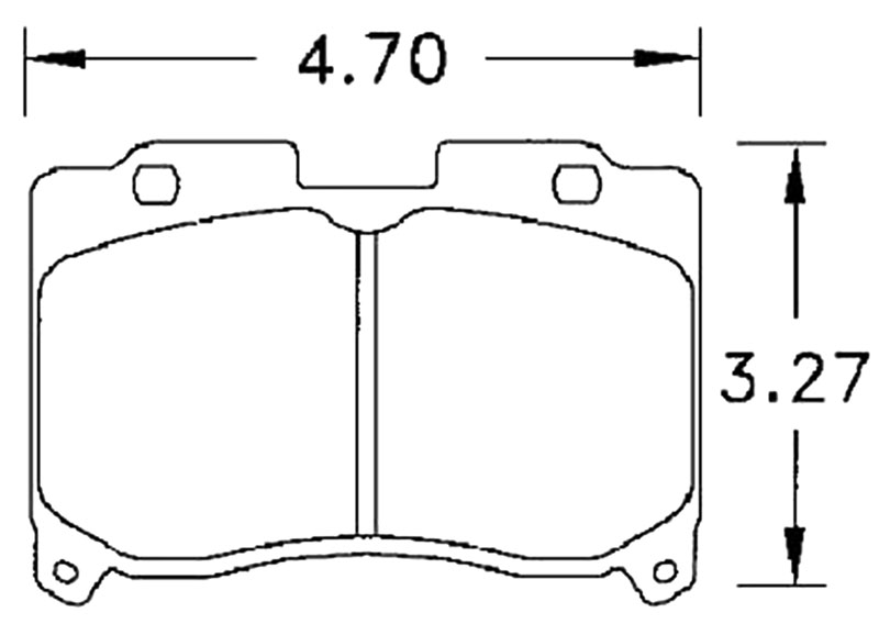 Large photo of Hawk Brake Pad, Toyota Supra Turbo (D629), Pegasus Part No. HB215-Compound-Thickness