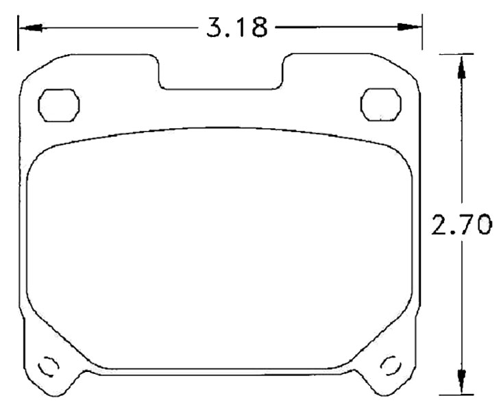 Large photo of Hawk Brake Pad, Toyota Supra Turbo rear (D630), Pegasus Part No. HB216-Compound-Thickness