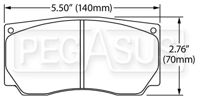 Large photo of Hawk Brake Pad, Alcon, AP, Wilwood,  Brembo NASCAR Front, Pegasus Part No. HB221-Compound-Thickness