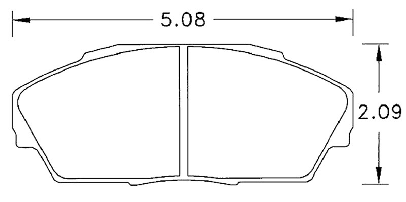 Large photo of Hawk Brake Pad, Acura, Honda (D409), Pegasus Part No. HB242-Compound-Thickness