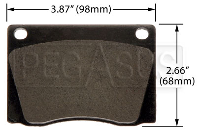 Large photo of Hawk Brake Pad: Alfa, Aston, Jaguar, Lotus (D004), Pegasus Part No. HB244-Compound-Thickness