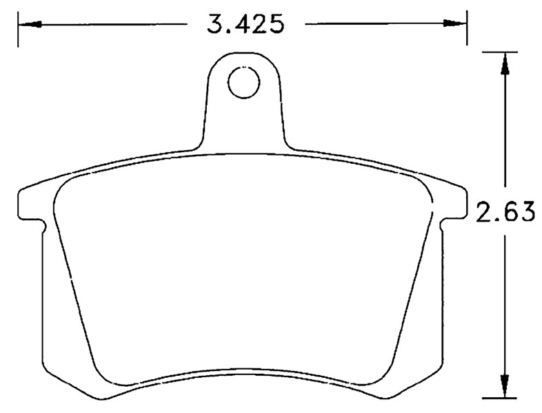 Large photo of Hawk Brake Pad, Alfa, Audi, VW Rear (D228), Pegasus Part No. HB271-Compound-Thickness