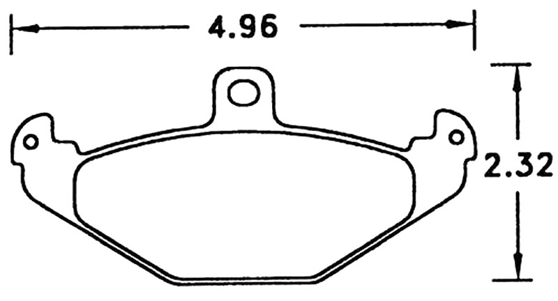 Large photo of Hawk Brake Pad, Viper Rear, Lotus Elise Rear (D491), Pegasus Part No. HB278-Compound-Thickness