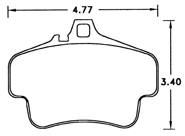 Large photo of Hawk Brake Pad, 98 Porsche 911 Targa (D776), Pegasus Part No. HB291-Compound-Thickness