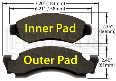Large photo of Hawk Brake Pad: Ford Trucks, IHC Scout II (D50), Pegasus Part No. HB292-Compound-Thickness