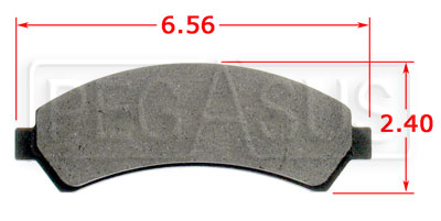 Large photo of Hawk Brake Pad, Chevrolet, GMC Truck (D276), Pegasus Part No. HB304-Compound-Thickness