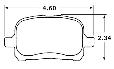 Large photo of Hawk Brake Pad, Lexus/Toyota (D707), Pegasus Part No. HB320-Compound-Thickness