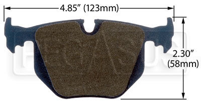 Large photo of Hawk Brake Pad: BMW Rear (D548), Pegasus Part No. HB362-Compound-Thickness