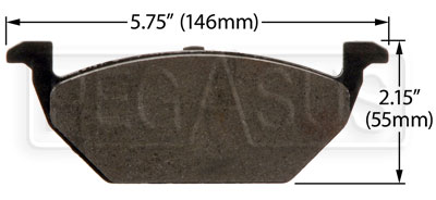 Large photo of Hawk Brake Pad: Volkswagen, Audi A3 (D768), Pegasus Part No. HB365-Compound-Thickness