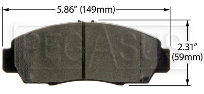 Large photo of Hawk Brake Pad: Acura, 03-10 Honda Accord EX (D787), Pegasus Part No. HB366-Compound-Thickness